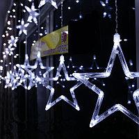 Гирлянда-дождь светодиодная Звезды, фото 1