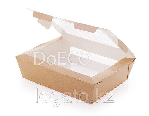 Упаковка ECO SALAD 1000мл  Крафт с окошком вверху