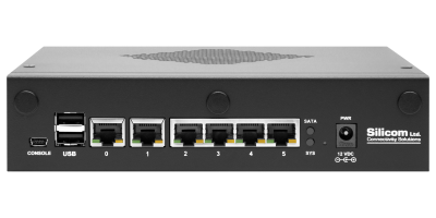 Мини-cервер Silicom, Intel Atom C2000-series, 4 cores, 8 GB, 64GB eMMC