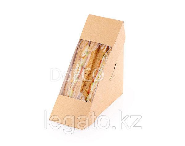 Упаковка ECO SANDWICH 40 Крафт с окошком