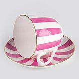 Чашка с блюдцем кофейная Да и Нет (Розовый). Императорский фарфор, фото 5