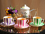 Чашка с блюдцем кофейная Да и Нет (Розовый). Императорский фарфор, фото 6