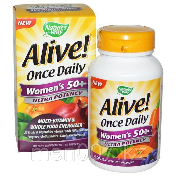 Мультивитамин для женщин старше 50 лет Nature's way alive США (60 таблеток)