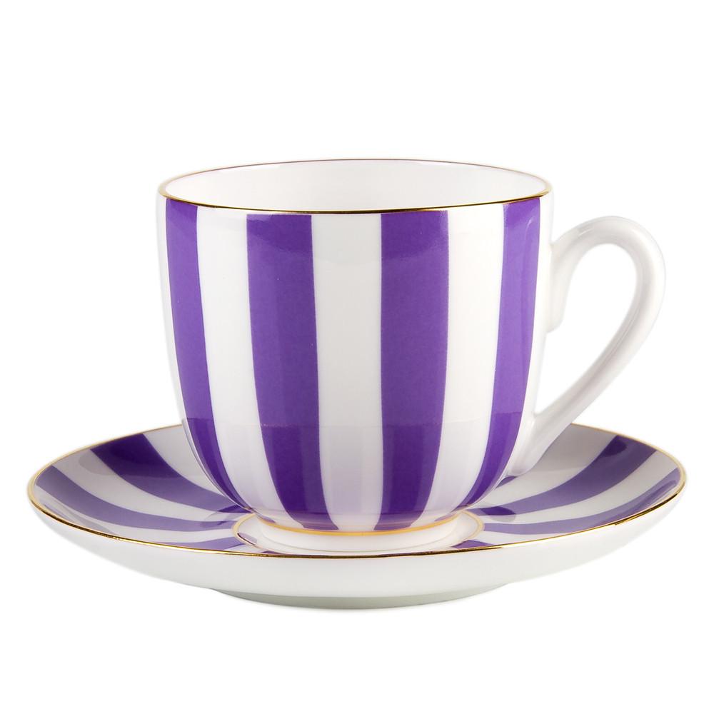 Кофейная пара Да и нет (Фиолетовый). Санкт-Петербург. Императорский фарфор