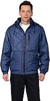 """Куртка рабочая ИТР """"ПРАГА-Люкс"""" мужская, с капюшоном, темно-синяя"""