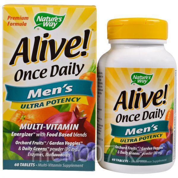 Мультивитамины для мужчин Nature's way alive сша (60 таблеток)