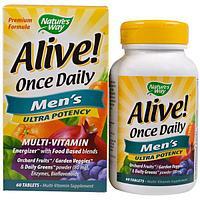 БАД Мультивитамины для мужчин Nature's way alive сша (60 таблеток)