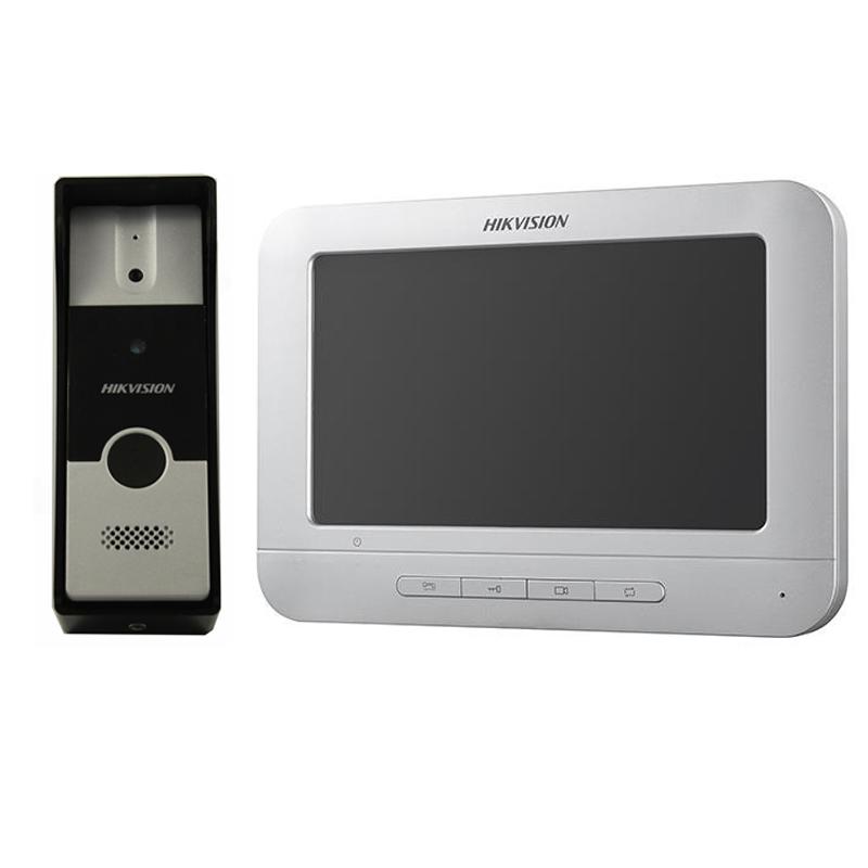 "Hikvision DS-KIS202 Комплект DS-KB2411-IM (вызывная панель) + DS-KH2220 (монитор 7"")"