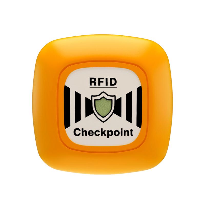 Беспроводная автономная контрольная метка VGL Патруль (RFID - бесконтактное считывание), желтая