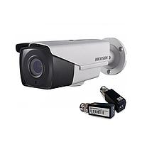 Hikvision DS-2CE16F7T-IT3Z (2.8-12 мм)+ DS-1H18 HD TVI 3МП EXIR уличная видеокамера Комплект