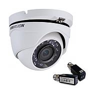 Hikvision DS-2CE56C2T-IRM (2.8 мм)+ DS-1H18  HDTVI 720P купольная видеокамера, метал корпус Комплект