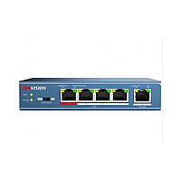 Hikvision DS-3E0105P-E PoE свитч 4-портовый