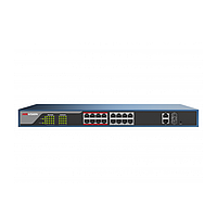 Hikvision DS-3E1318P-E PoE свитч 16-портовый