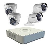 Hikvision DS-J142I Комплект видеонаблюдения (HD TVI 4 Видеокамеры+ Видеорегистратор), фото 1
