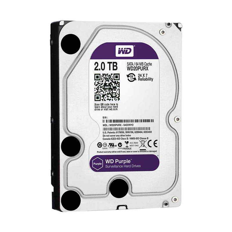 "WD20PURX Жесткий диск 2000ГБ Western Digital ""Caviar Purple"""