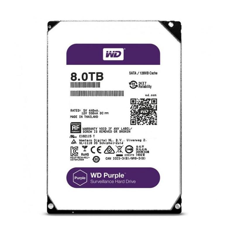 "WD80PURX Жесткий диск 8000ГБ Western Digital ""Caviar Purple"""