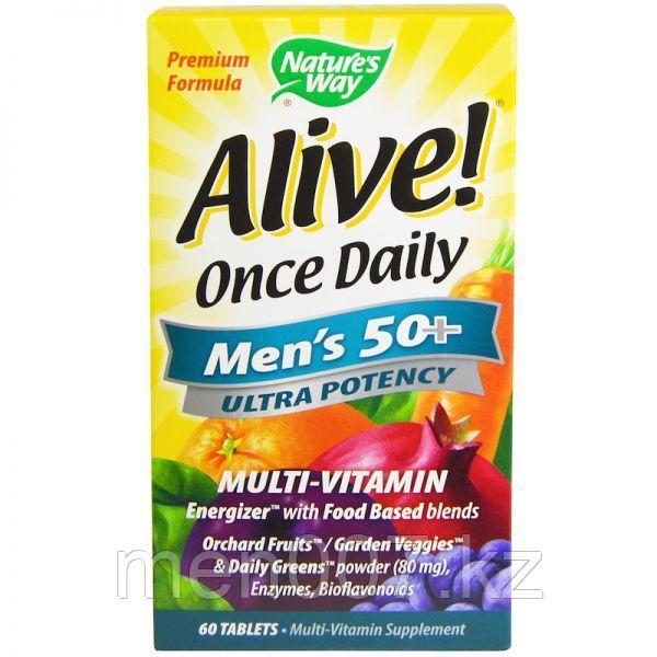 Мультивитамин для мужчин старше 50 лет Nature's way alive США (60 таблеток)