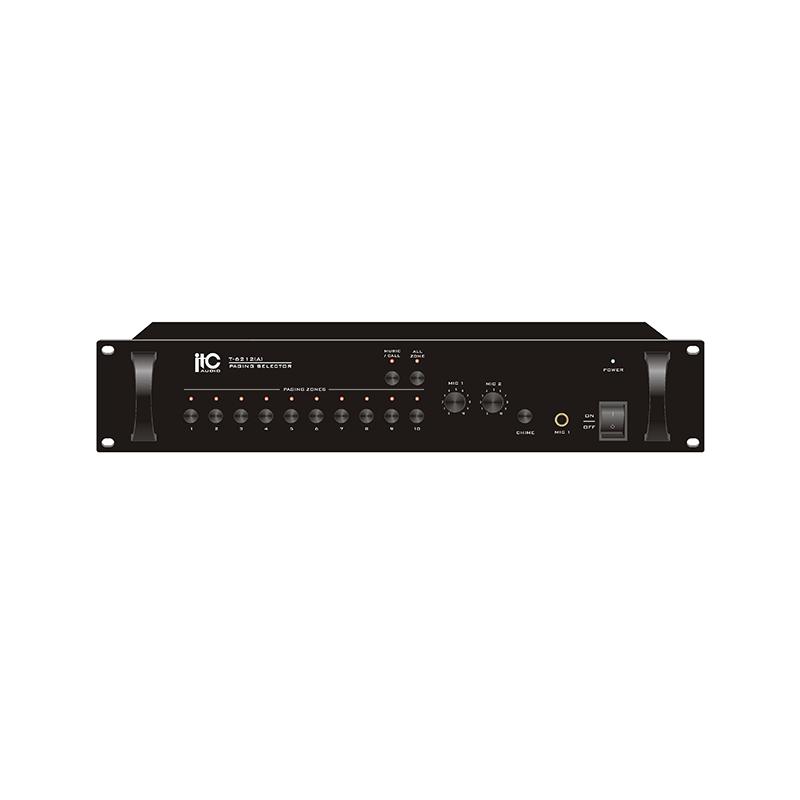ITC T-6212A Блок контроллера системы оповещения на 10 зон, двойной режим, до 30 блоков в группе