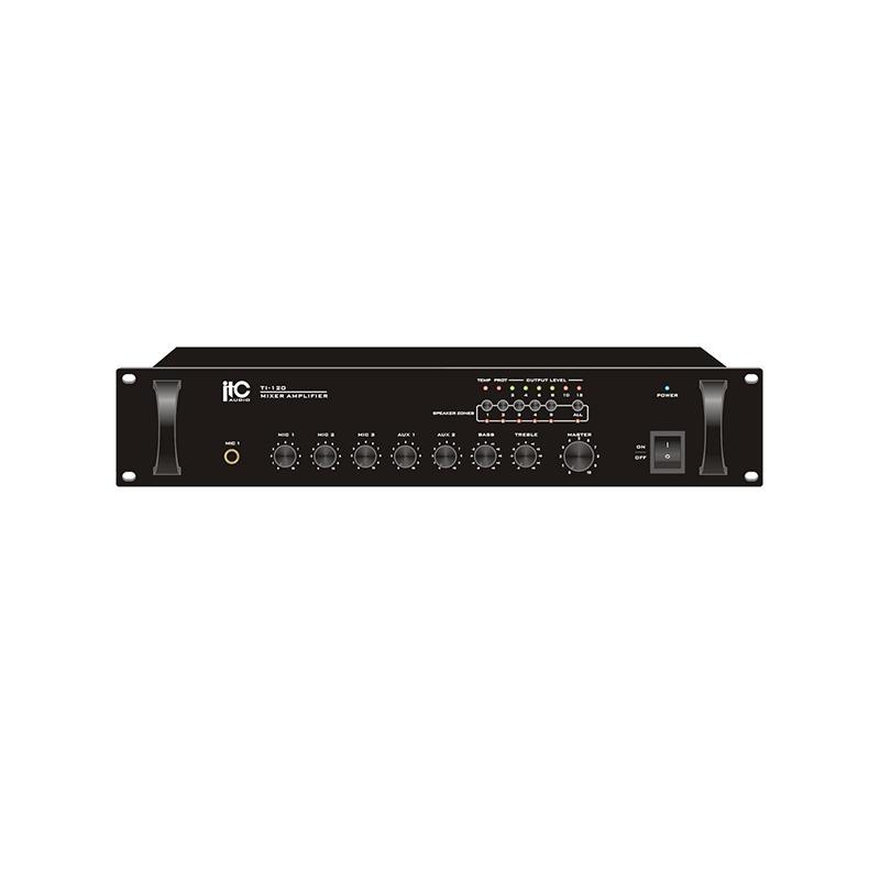 ITC TI-240 Микширующий усилитель 240Вт (240В, 3 микрофонных, 2 линейных входа, с 2 уровнями приорите
