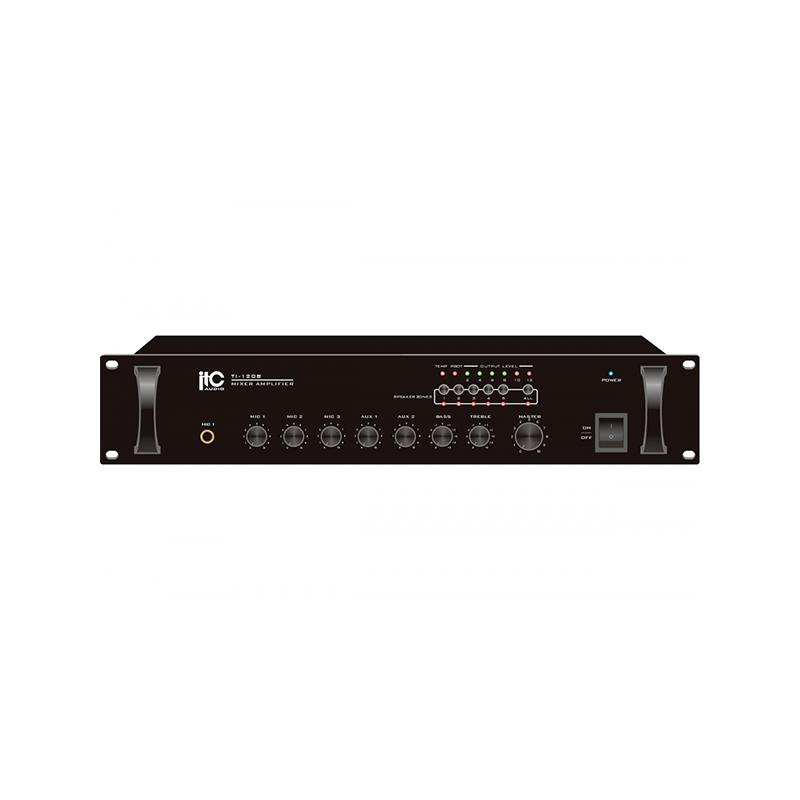 ITC TI-240B Усилитель мощности микширующий  с комутатором на 5 зон, 2 микрофонных входа