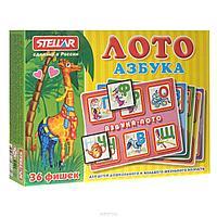 """Stellar Развивающая игра """"Лото: Азбука"""" 36 фишек"""