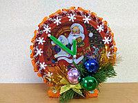 Новогодние часы из конфет, оранжевые, фото 1