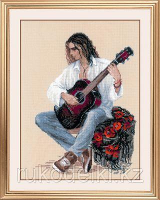 """Набор для вышивания крестом """"Гитарист"""""""