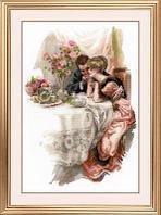 """Набор для вышивания крестом """"Первый вечер в собственном доме"""" по мотивам картины Х. Фишера"""""""