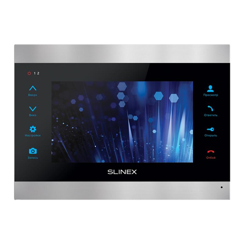 SL-07IP Видеодомофон с переадресацией на смартфон серебро+черный