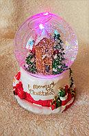 """Новогодние шары со снегом """"Домик в лесу"""" (11см), фото 1"""