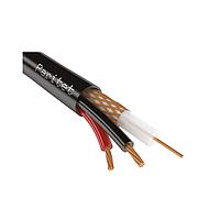 Паритет КВК-П-2 2*0,50  Комбинированный кабель для систем виденаблюдения черный