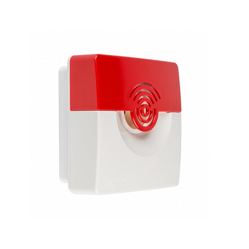 Рубеж ОПОП 124-7 (бело/красный) Оповещатель охранно-пожарный свето-звуковой