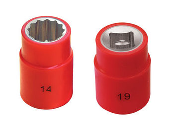 """Головка изолированная (C=3/8"""")  8 мм 1000V (тип изоляции: напыление)"""
