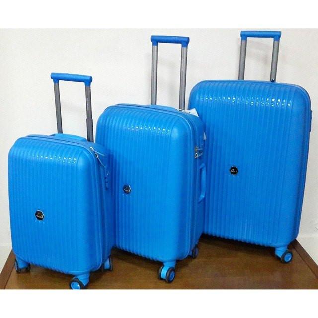 """Синий чемодан пластиковый """" Aotian """" большого размера"""