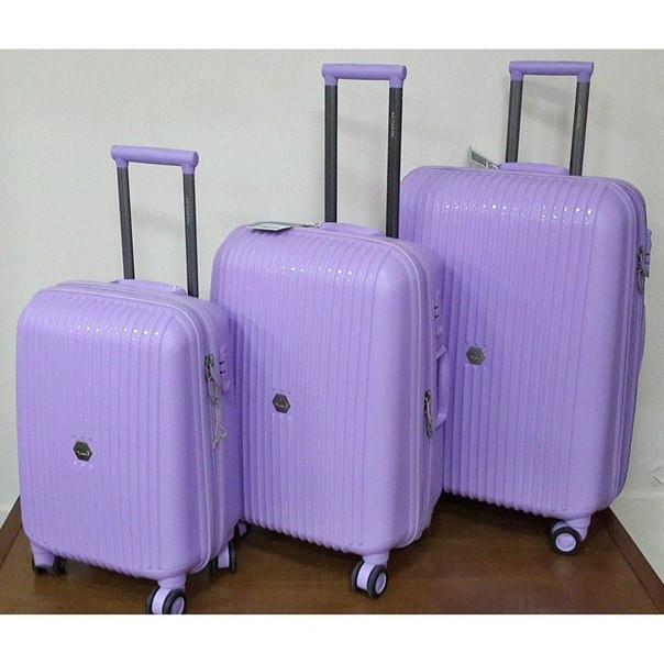 """Пластиковые чемоданы фиолетовые малые """" Aotian """""""