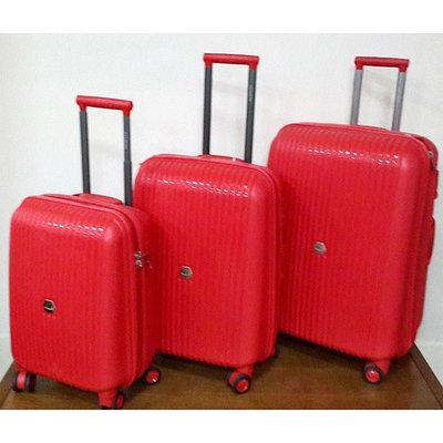"""Маленькие пластиковые чемоданы """" Aotian """" красного цвета"""