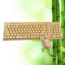 Беспроводная клавиатура и мышь из бамбука