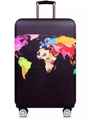 Чехол с изображением карты мира для чемодана