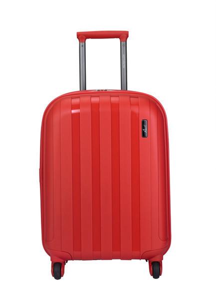 """Пластиковый средний чемодан на колесах """"Aotian"""" красного цвета"""