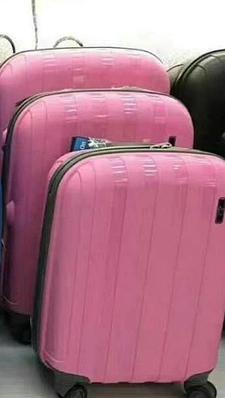 """Светло-розовый дорожный большой чемодан """" Aotian """""""