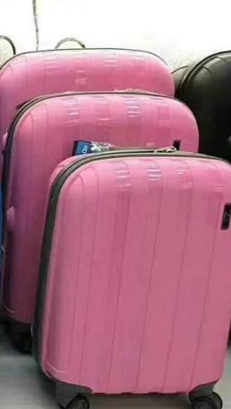 """Чемодан средний пластиковый """" Aotian """" светло-розового цвета"""