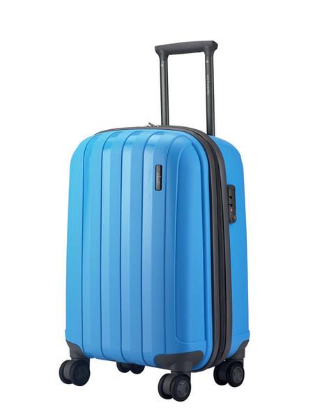 """Чемодан пластиковый """"Aotian"""" голубой маленького размера"""
