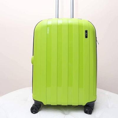 """Чемодан на колесах пластиковый """"Aotian"""" зеленый маленького размера"""
