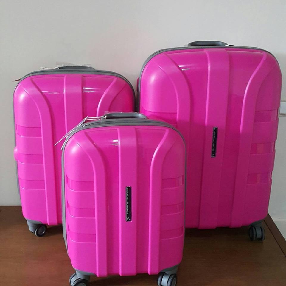 """Пластиковый чемодан ярко-розовый """" Aotian """" большой"""