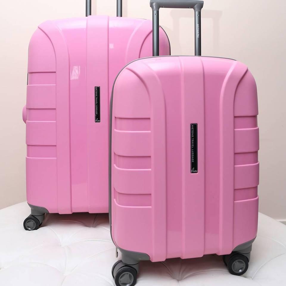 """Светло-розовый чемодан """" Aotian """" средний"""
