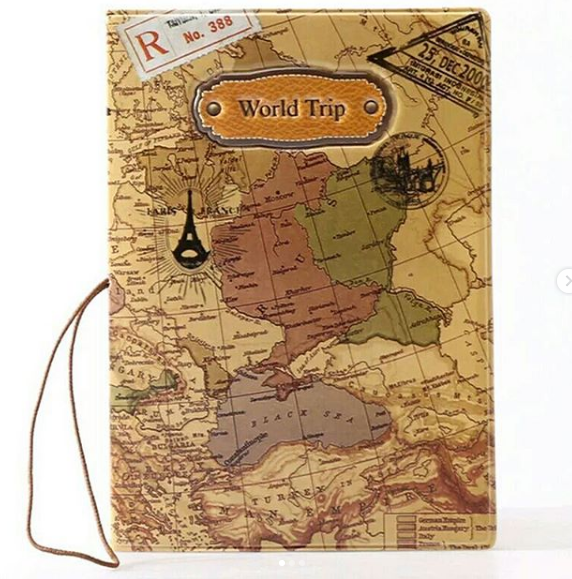 Обложка с рисунком на паспорт