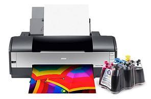 Принтер Epson Stylus Photo 1410 с СНПЧ и чернилами