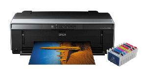 Цветной принтер Epson Stylus Photo R2000 с ПЗК и чернилами