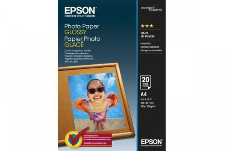 Глянцевая фотобумага Epson Glossy Photo Paper A4, 200g, 20 листов