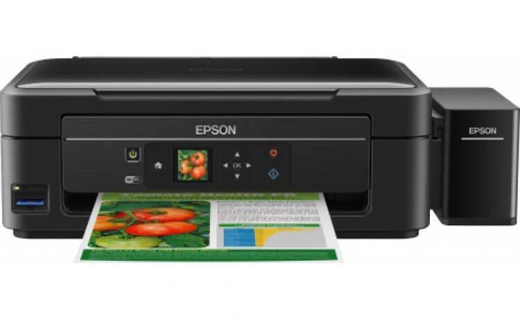 МФУ Epson L456 с оригинальной СНПЧ и чернилами